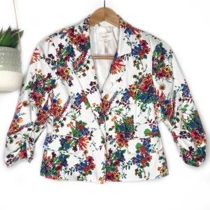 LAUNDRY BY SHELLI SEGAL | Floral Crop Blazer 10